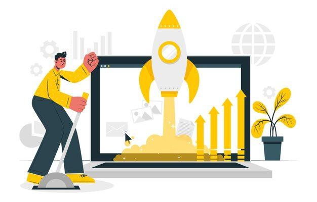 جاوید ایرانیان market launch concept illustration 114360 2979 626x400 آغاز یک تجارت مجازی    Image of market launch concept illustration 114360 2979 626x400