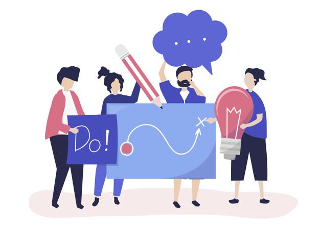 جاوید ایرانیان people holding creative ideas icons 53876 59890 آغاز یک تجارت مجازی    Image of people holding creative ideas icons 53876 59890